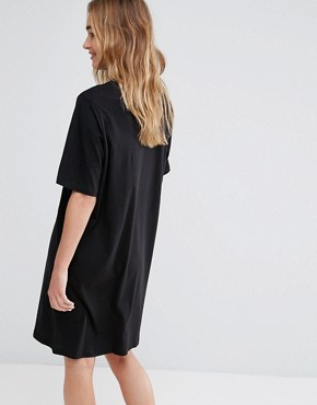 photo Box Logo T-Shirt Dress by Cheap Monday, color Black - Image 2