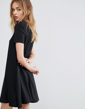 photo High Neck Swing Dress by Cheap Monday, color Black - Image 2