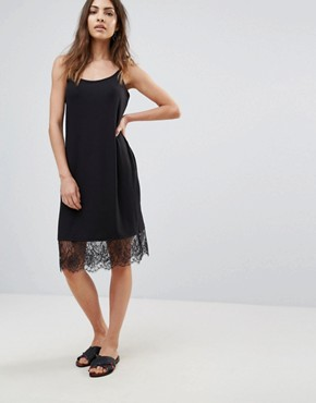 photo Elly Rib Slip Dress by Only, color Black - Image 1