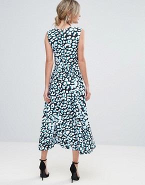 photo Leopard Print Midi Dress by Every Cloud, color Animal Print - Image 2