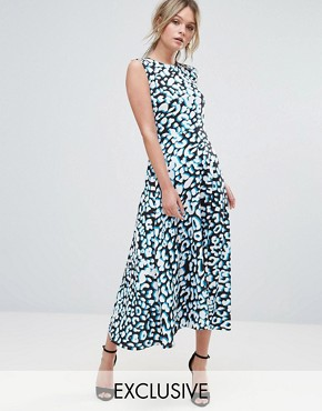 photo Leopard Print Midi Dress by Every Cloud, color Animal Print - Image 1