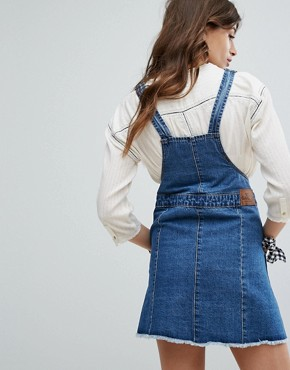 photo Heritage Denim Dungaree Dress by Gandys, color Blue - Image 2