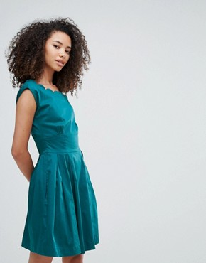 photo Julita Scallop Dress by Louche, color Teal - Image 1
