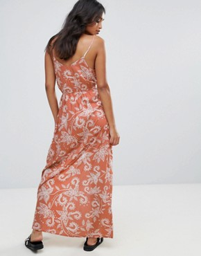 photo Paisley Maxi Dress by Parisian, color Rust - Image 2