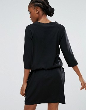 photo Waist Tie Dress by b.Young, color Black - Image 2