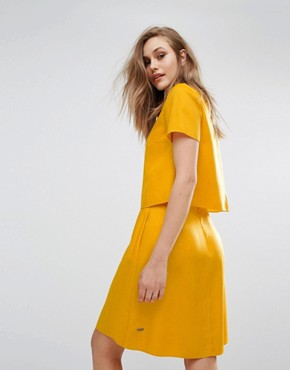 photo Aberry Dress by BOSS Orange By Hugo Boss, color Yellow - Image 2