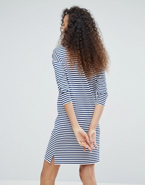 photo Stripe Knitted Dress by mbyM, color Horizontal Stripe - Image 2