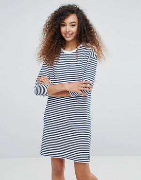 photo Stripe Knitted Dress by mbyM, color Horizontal Stripe - Image 1