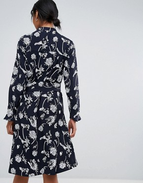 photo Hamie Print Wrap Dress by Just Female, color Sakura Aop - Image 2