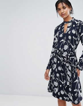 photo Hamie Print Wrap Dress by Just Female, color Sakura Aop - Image 1