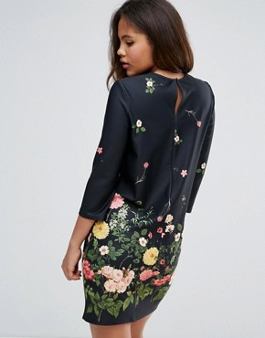 photo Botanical Floral Shift Dress by ASOS TALL, color Floral - Image 2
