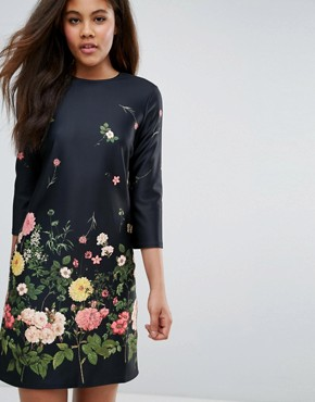photo Botanical Floral Shift Dress by ASOS TALL, color Floral - Image 3