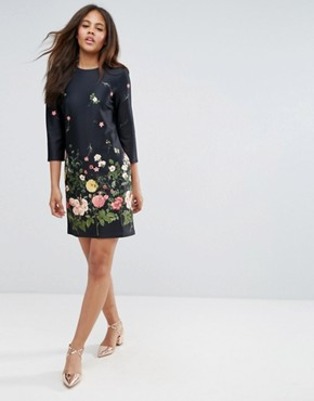 photo Botanical Floral Shift Dress by ASOS TALL, color Floral - Image 4