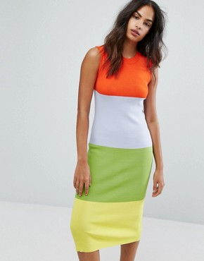 photo Colourblock Sleeveless Dress by Warehouse Premium, color Multi - Image 1