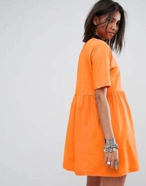 photo Smock T-Shirt Dress by Rokoko, color Orange - Image 2