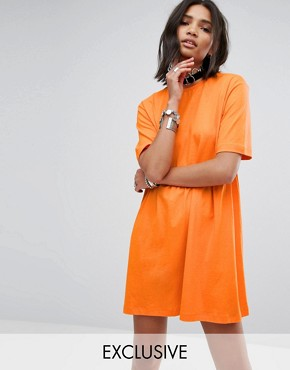 photo Smock T-Shirt Dress by Rokoko, color Orange - Image 1