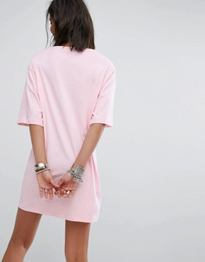 photo T-Shirt Dress with Rose Patch by Rokoko, color Baby Pink - Image 2