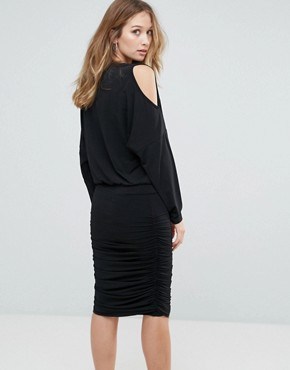 photo Penn Cold Shoulder Shift Dress by Gestuz, color Black - Image 2