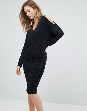 photo Penn Cold Shoulder Shift Dress by Gestuz, color Black - Image 1