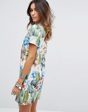 photo Cactus Printed T-Shirt Dress by Minkpink, color Multi - Image 2