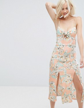photo Palm Springs Floral Midi Dress by Minkpink, color Multi - Image 1