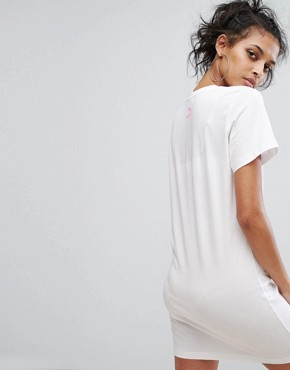 photo T-Shirt Dress by Puma, color Bright White/Candy - Image 2
