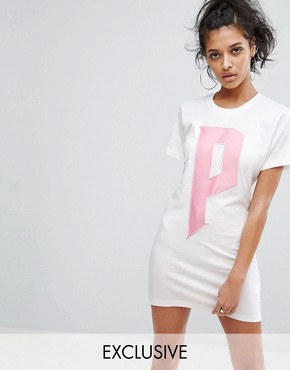 photo T-Shirt Dress by Puma, color Bright White/Candy - Image 1