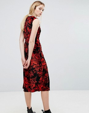 photo Garza Velvet Midi Dress by Sportmax Code, color Red - Image 2