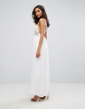 photo Crochet Top Maxi Dress by Missguided, color White - Image 2
