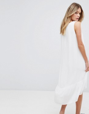 photo Sleeveless Tiered Dress by Selected, color Snow White - Image 2