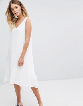 photo Sleeveless Tiered Dress by Selected, color Snow White - Image 1