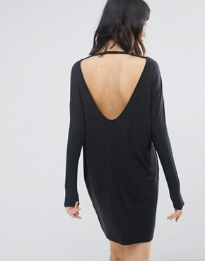 photo Long Sleeve Dress by Moss Copenhagen, color Black - Image 2