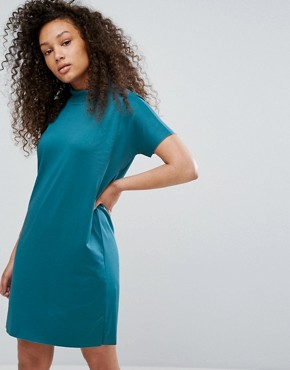 photo T-Shirt Dress by Moss Copenhagen, color Dragon Fly - Image 1
