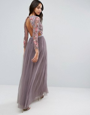 photo Ditsy Scatter Tulle Gown by Needle & Thread, color Lavender - Image 2