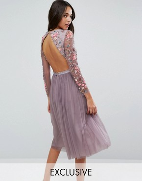 photo Ditsy Scatter Tulle Midi Dress by Needle & Thread, color Lavender - Image 1
