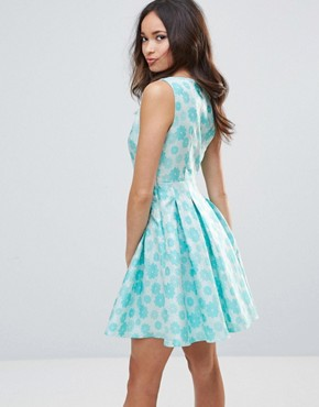 photo Floral Embossed Dress by Zibi London, color Blue - Image 2
