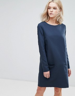 photo Sweater Dress by Vila, color Navy - Image 1