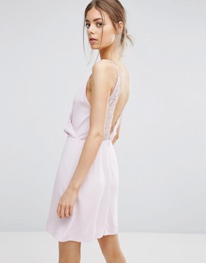 photo Ginni Short Lace Dress by Samsoe & Samsoe, color Parfait Pink - Image 2