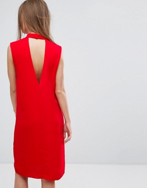 photo Theta T-N Dress by Samsoe & Samsoe, color Racing Red - Image 2