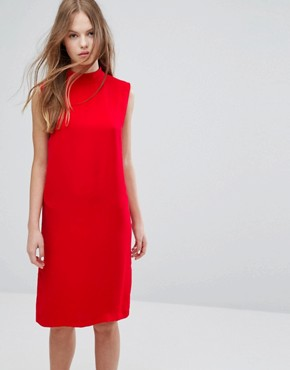 photo Theta T-N Dress by Samsoe & Samsoe, color Racing Red - Image 1