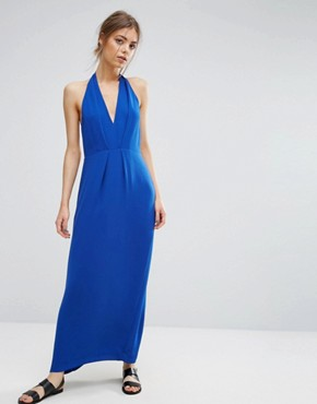 photo Hannah Long Dress by Samsoe & Samsoe, color Blue - Image 2