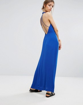 photo Hannah Long Dress by Samsoe & Samsoe, color Blue - Image 1