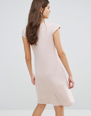photo V-Front Knitted Dress by Jasmine, color Cream - Image 2