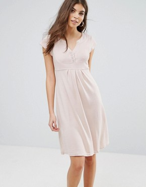photo V-Front Knitted Dress by Jasmine, color Cream - Image 1