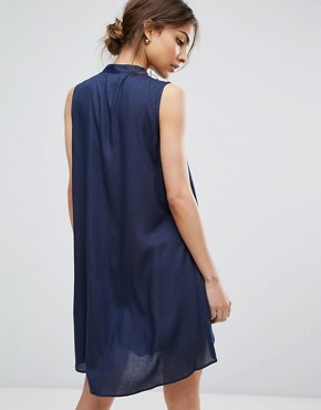 photo Ash Layered Dress with Belt by Urban Bliss, color Blue - Image 2