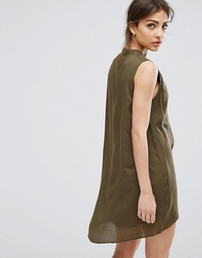 photo Ash Layered Dress with Belt by Urban Bliss, color Khaki - Image 2