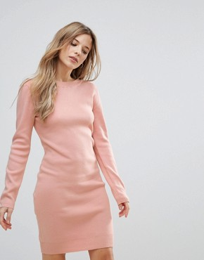photo Jumper Dress with Back Strap Detail by The English Factory, color Nude Pink - Image 2