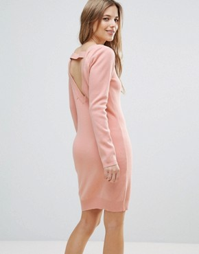 photo Jumper Dress with Back Strap Detail by The English Factory, color Nude Pink - Image 1