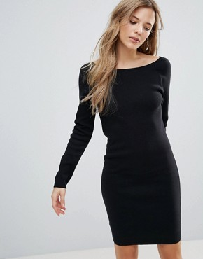 photo Jumper Dress with Back Strap Detail by The English Factory, color Black - Image 2