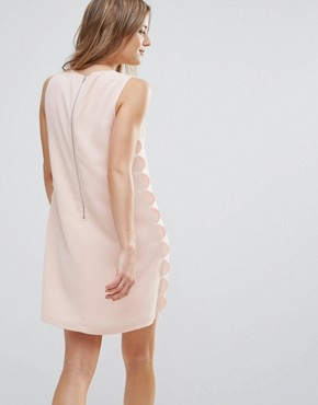 photo Scalloped Shift Dress by The English Factory, color Nude Pink - Image 2